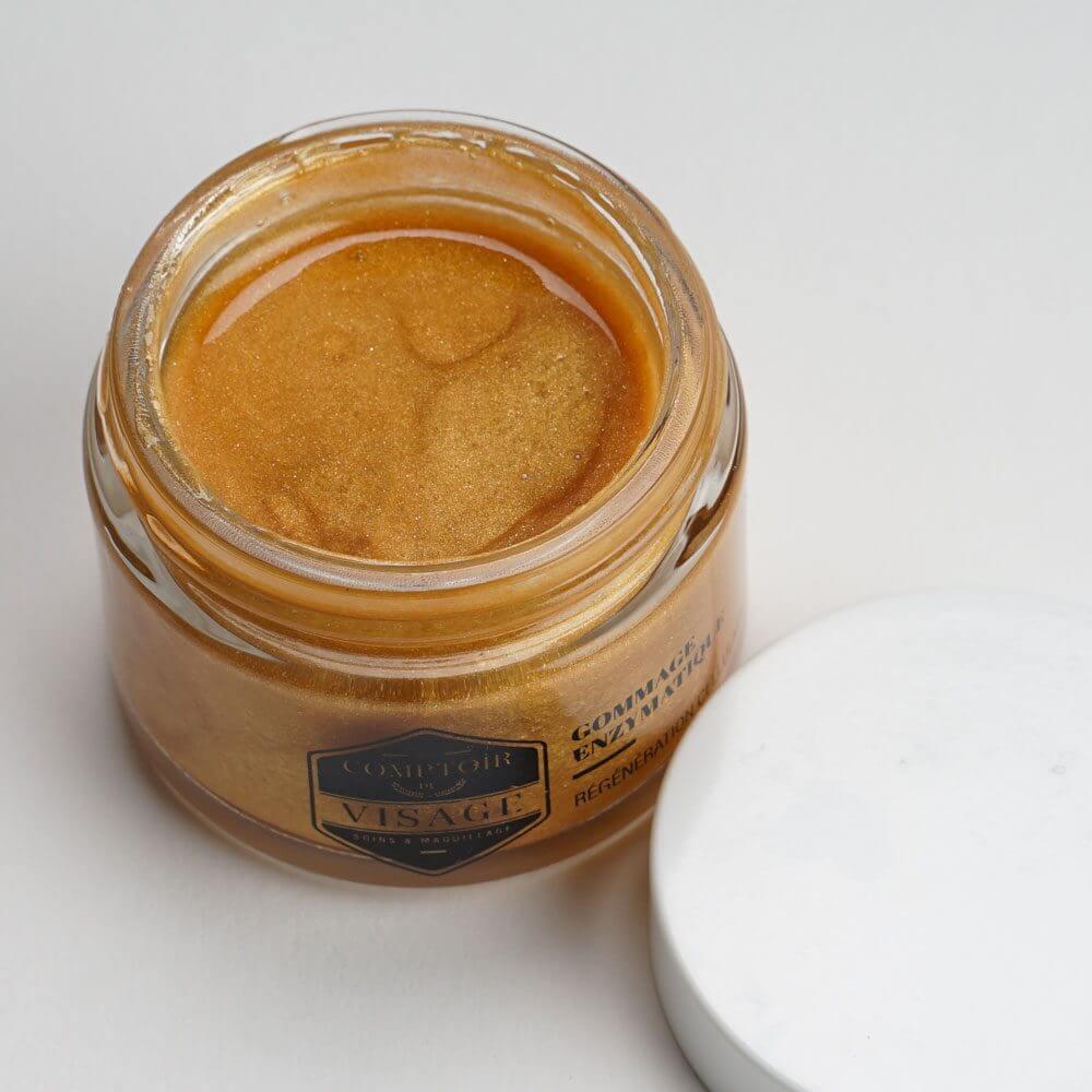 soin pour peaux mixtes : gommage enzymatique