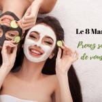 votre masque visage ou gommage offert le 8 mars