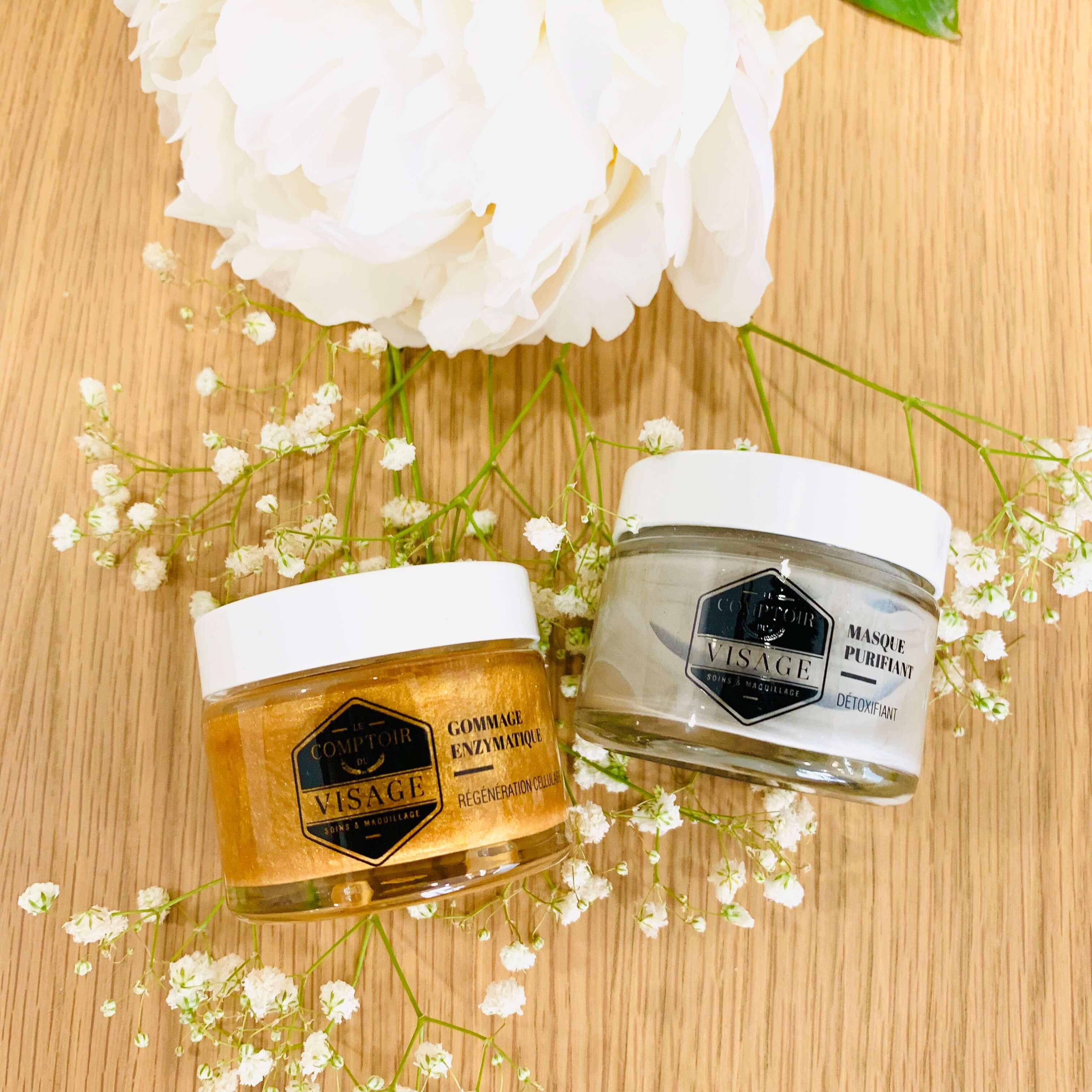 gommage enzymatique masque purifiant routine soin le comptoir du visage