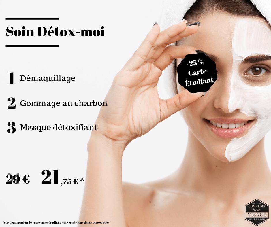 soin detox le comptoir du visage
