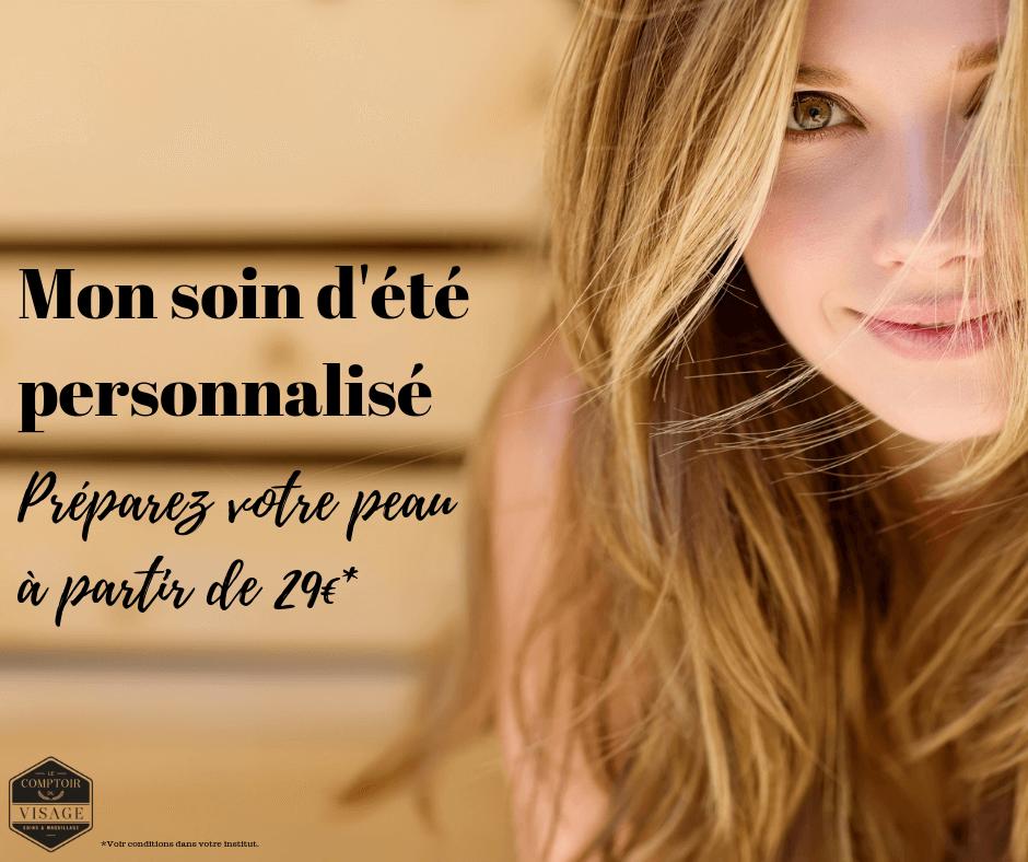 soin visage ete personnalise